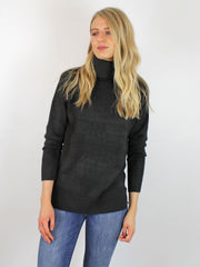 B Young Roll Neck Black Jumper