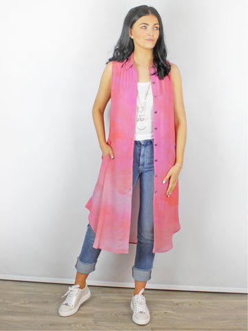 Blank London Leenita Ombre Over-Shirt Pink