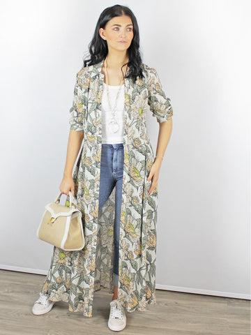 Blank London Venya Floral Shirt Dress Sage