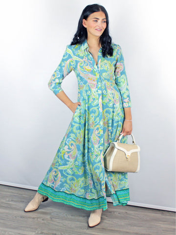 Blank London Venya dress turquoise
