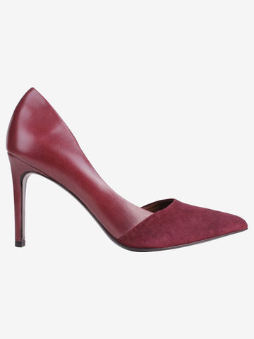 By Malene Birger Burgundy Mid Heel Court Shoes