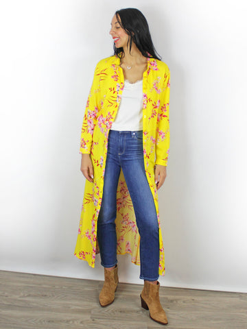 Charlotte Sparre Yellow Floral Dress Jeans