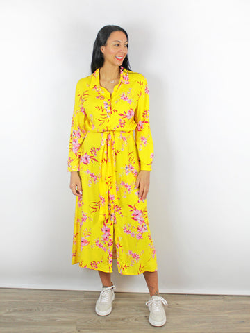 Charlotte Sparre Floral Yellow Dress