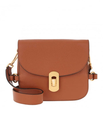 Coccinelle Small Gold Clasp Bag Tan
