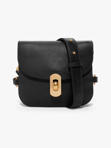 Coccinelle Small Gold Clasp Bag Black