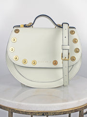 Coccinelle white studded bag