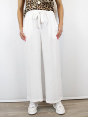 Conditions Apply Wide Leg Pants Off White