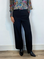 Emme Marella Gervaso Cuffed Crop Pants Black