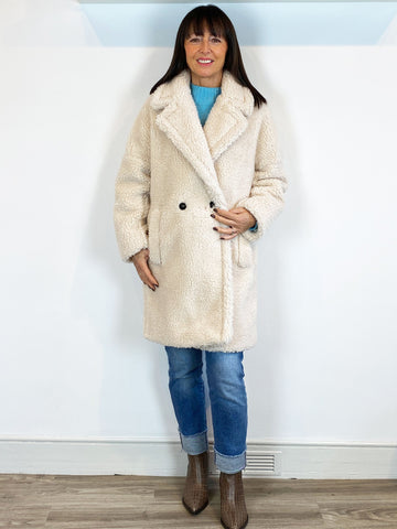 Emme Marella Teddy Coat Cream