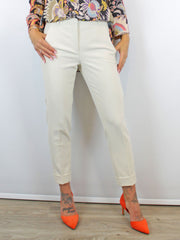 Luisa Cerano Cream Tailored Trousers