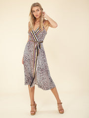 Hale Bob Animal Print Wrap Dress