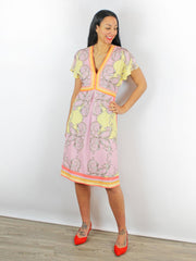 Hale Bob Printed Dress Pink