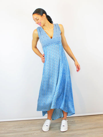 Conditions Apply Printed Dress In Blue