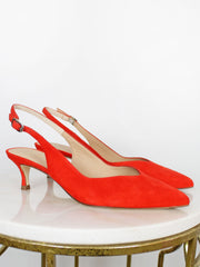 Unisa Orange Sling Back Heel