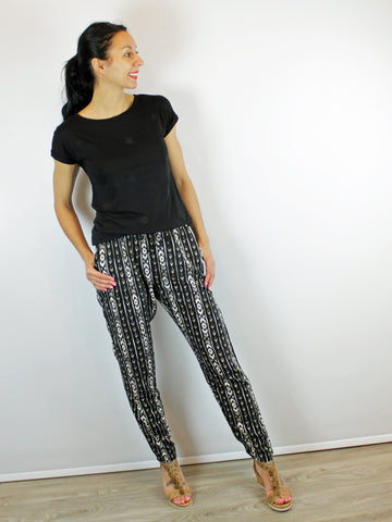 B Young Tribal Print Trousers