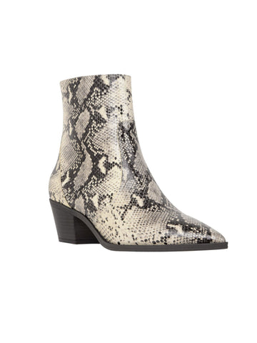Loie snake print ankle boots