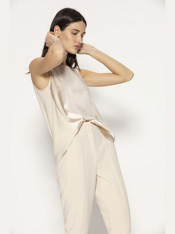 Luisa Cerano Tailored Trousers & Sleeveless Blouse