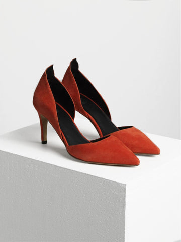 Orange Mid Heels By Malene Birger