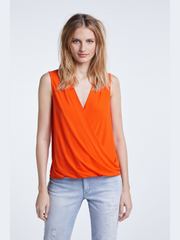 Oui Clothing Sleeveless Top Orange