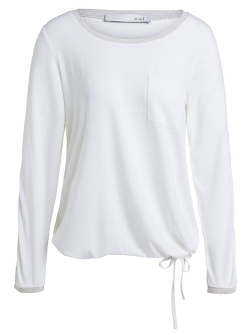 Oui Long Sleeve T-Shirt White