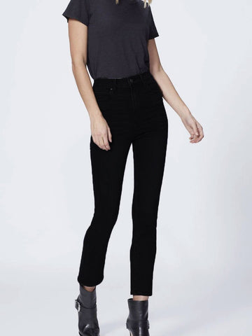 Paige Cindy High Rise Straight Jeans Black Shadow