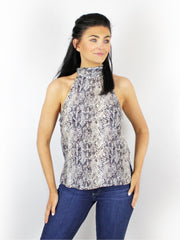 Primrose Park Frida Cutaway Shoulder Top Animal Print