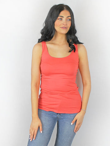 Riani Basic Sleeveless Top Coral