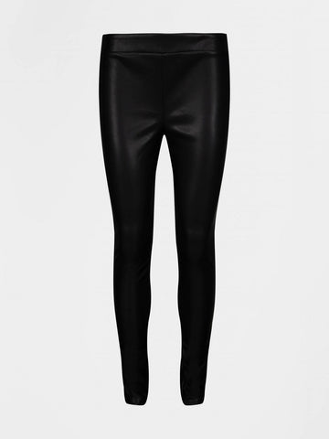 Sofie Schnoor Naia Faux Leather Leggings Black