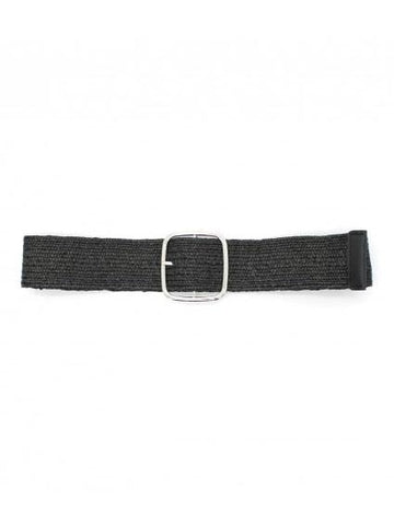 Stretch Belt Black & Silver