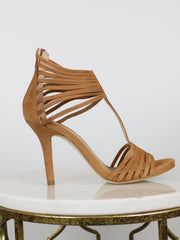 Tan High Heel Sandals Unisa Yusta Suede