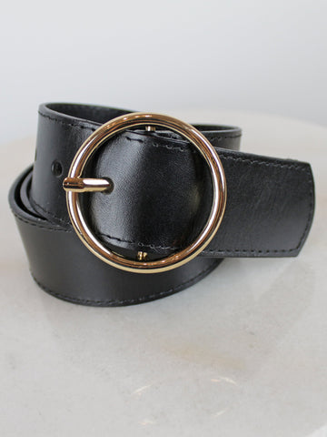 Vimoda Women's Leather Belt Black