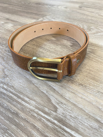 Women's Snake Leather Tan Belt