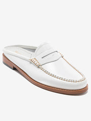 Flat Leather Shoes White