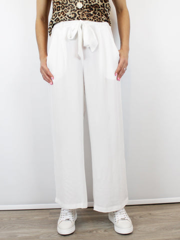 Wide Leg Trouser Culottes White