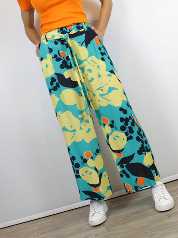 Wide Leg Trousers Blank London Turquoise