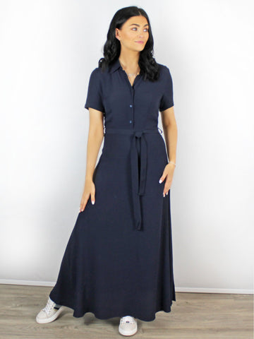 Zilch Maxi Shirt Dress Navy