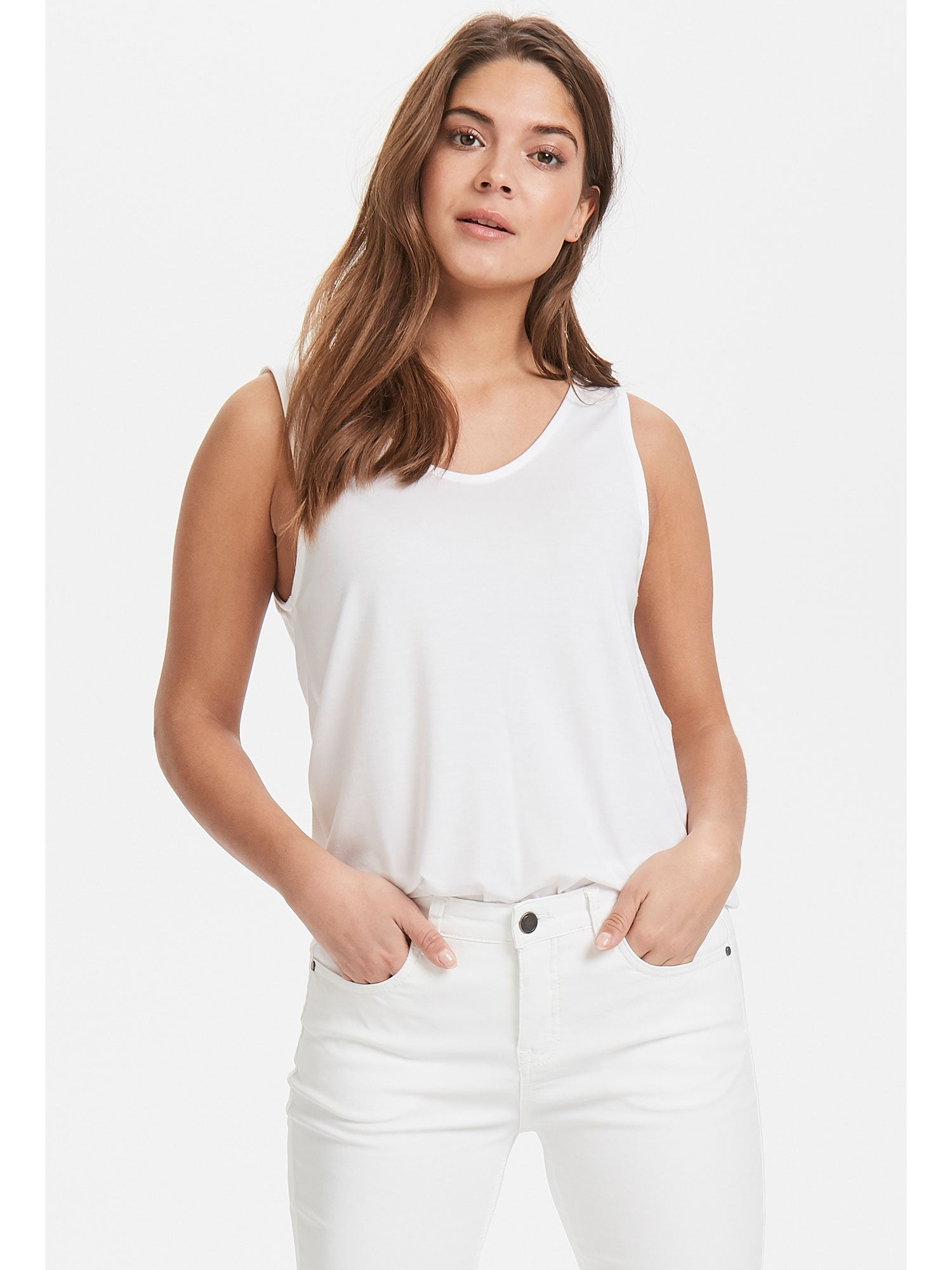 Image of B Young ByRexima Tank Top White