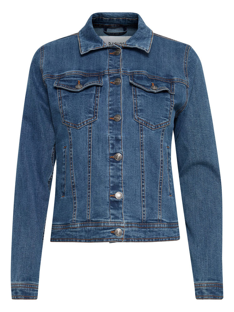 Image of B Young Denim Jacket Mid Blue