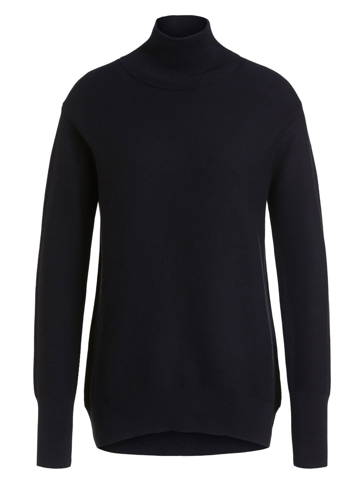 Oui Funnel Neck Jumper Black