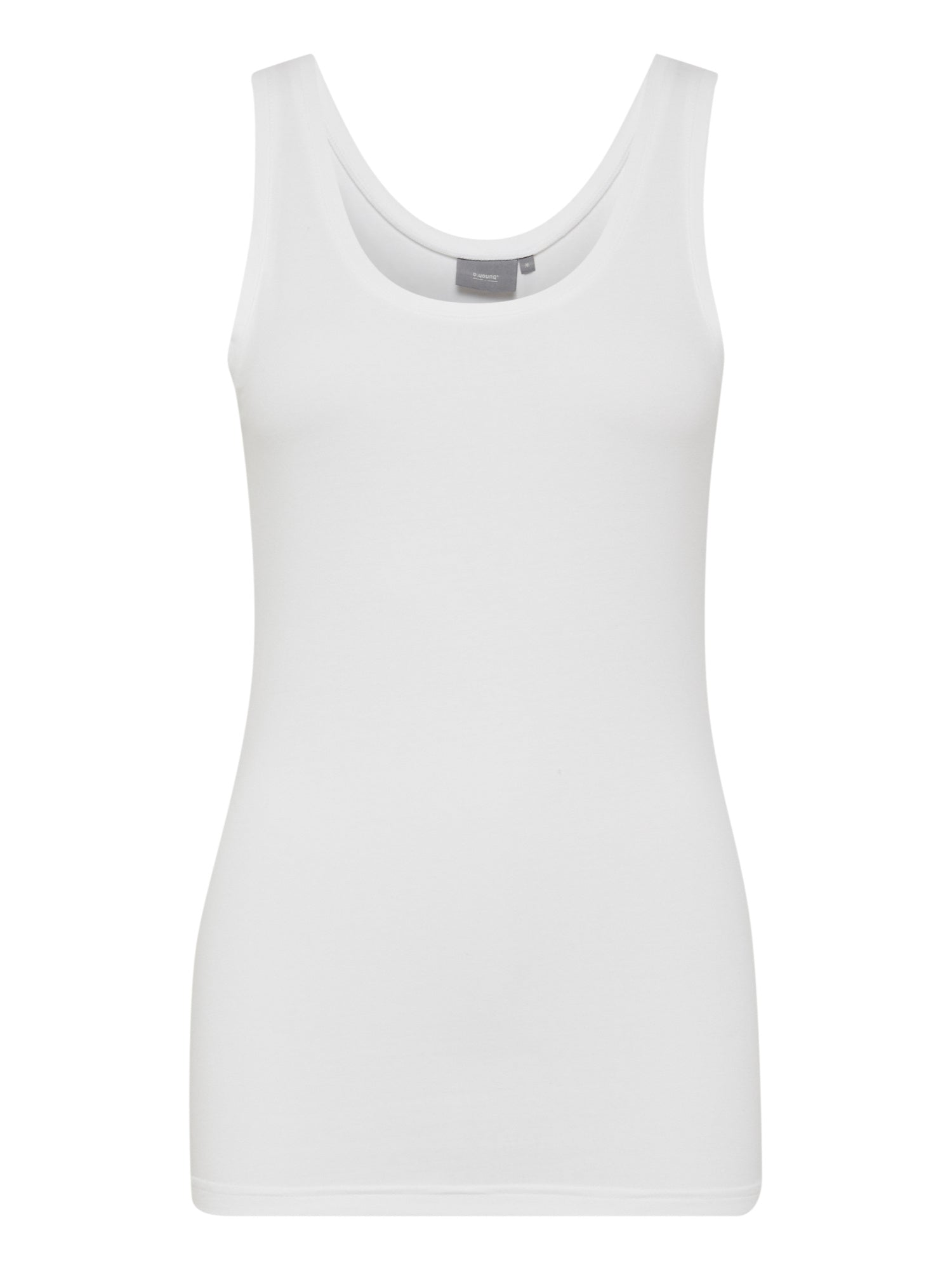 Image of B Young Pamila Stretchy Vest Top in White