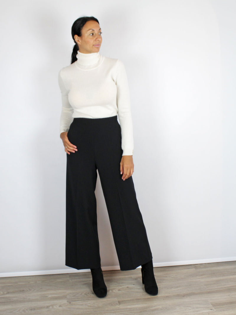 Beatrice B Black Culottes