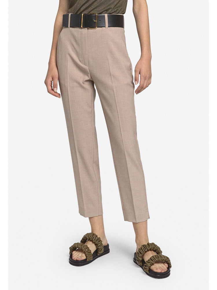 Image of Ottod'ame Slim Trousers Beige