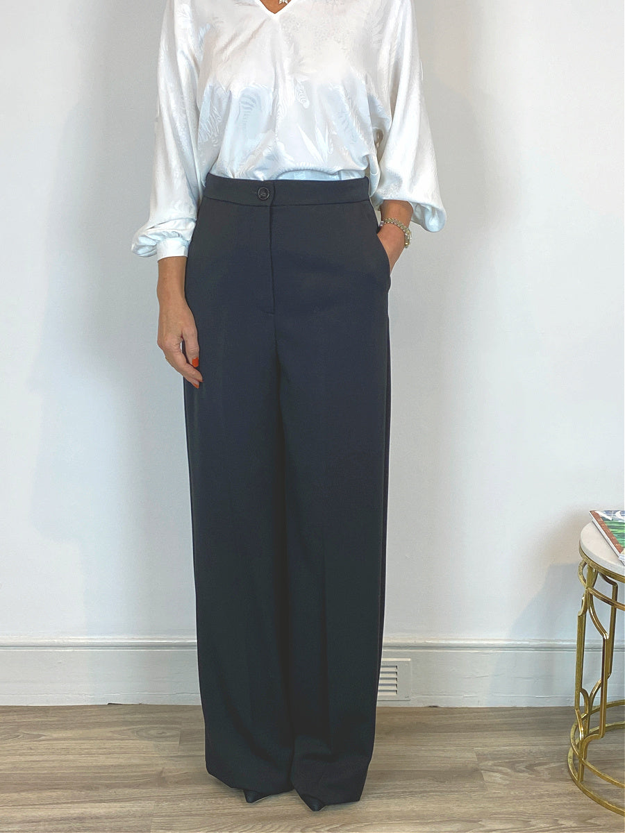 Emme Marella Mayaca Wide Leg Pants Black