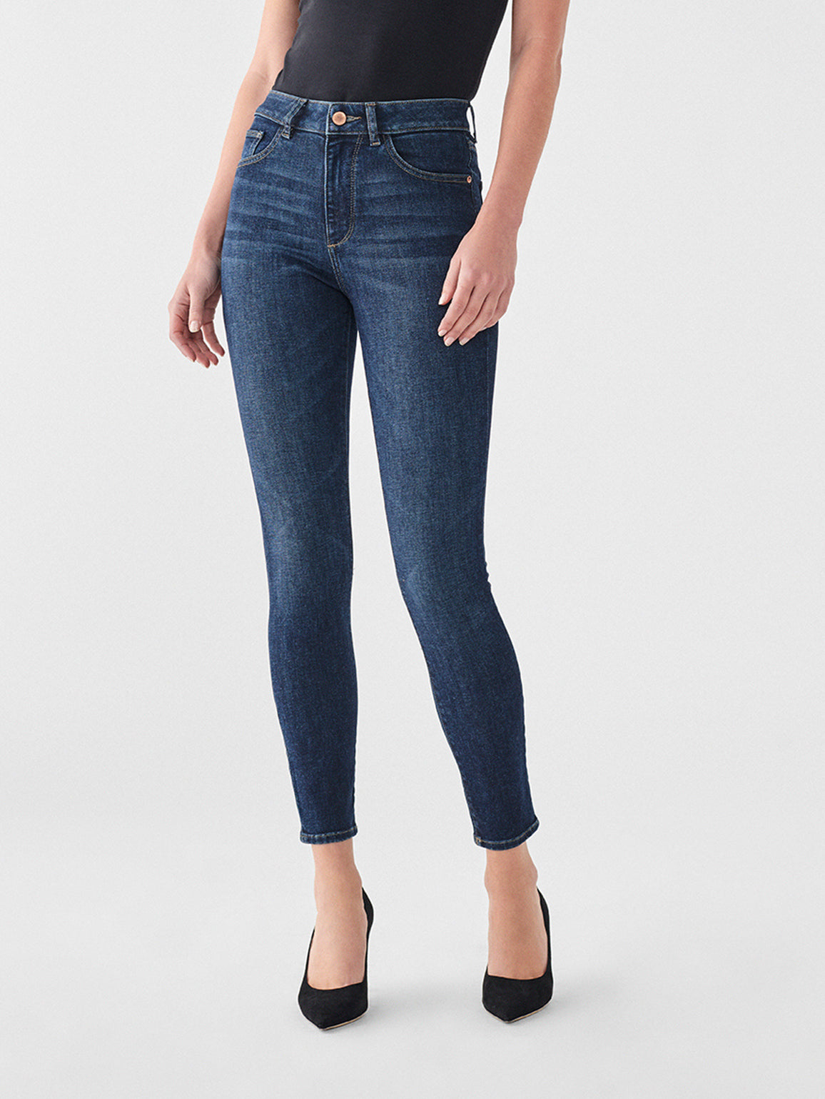 DL1961 Farrow High Waisted Skinny Jeans Graham