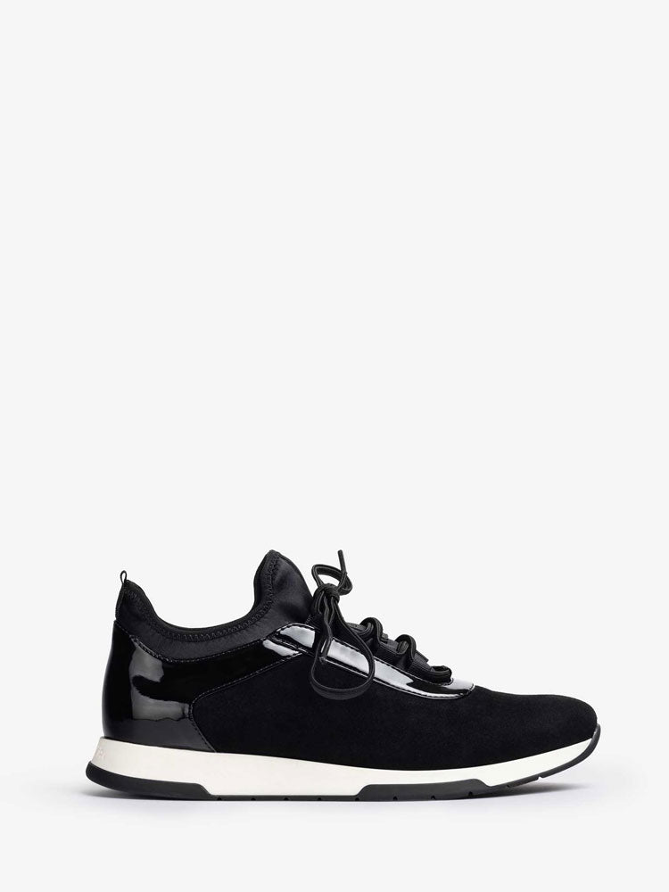 Image of Unisa Fonts Suede Trainers Black