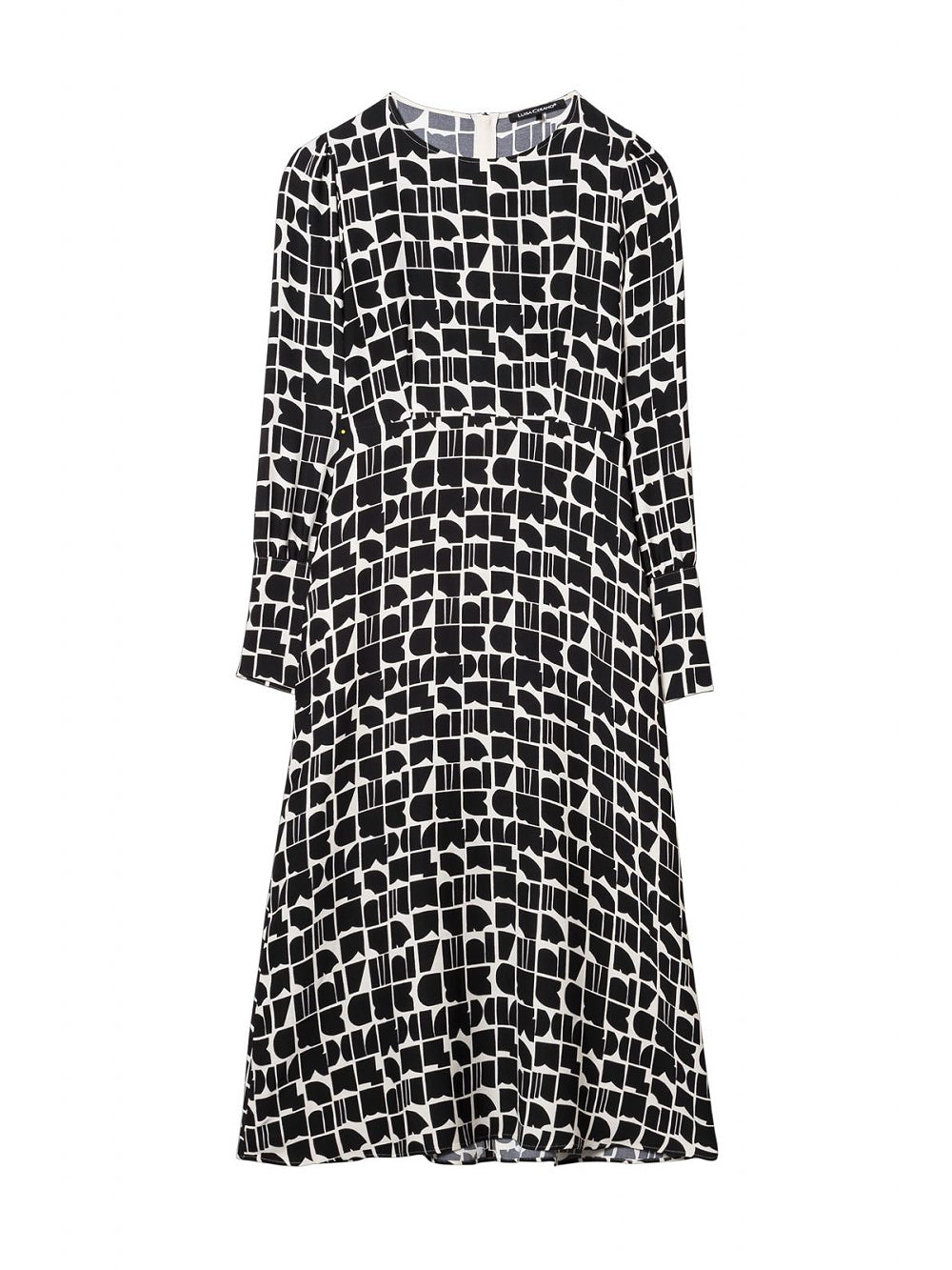 Luisa Cerano Abstract Print Midaxi Dress