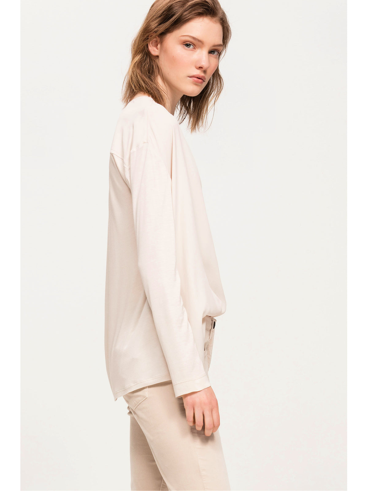 Luisa Cerano Long Sleeve Shirt With Patch
