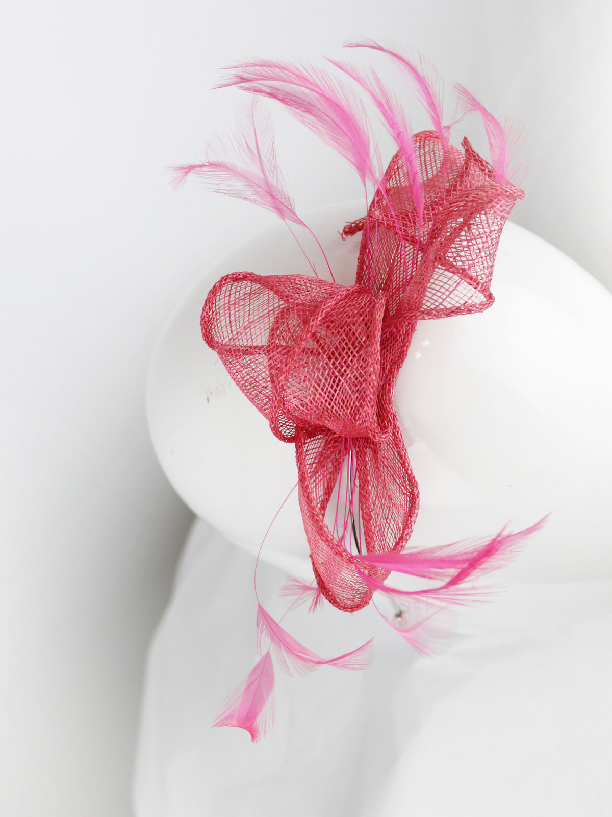 Max & Ellie Fascinator Cerise Pink