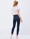 Paige Hoxton Ankle Raw Hem Jeans Greece Blue