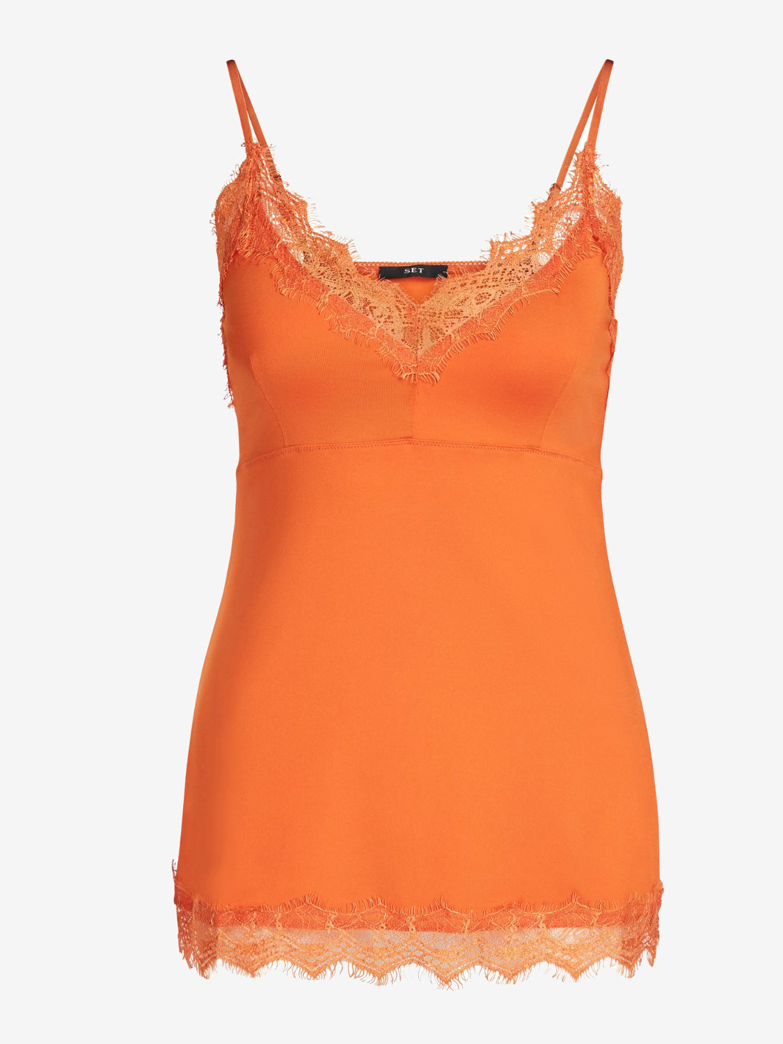 Set Lace Cami Top Orange
